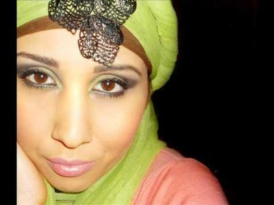 Arabian Spring green Makeup & Hijab Tutorial