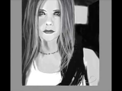 Avril Lavigne Drawing (Speed Painting)