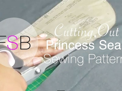 Cutting Out Princess Seam Sewing Patterns