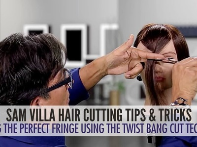 Cutting The Perfect Fringe Using The Twist Bang Cut Technique