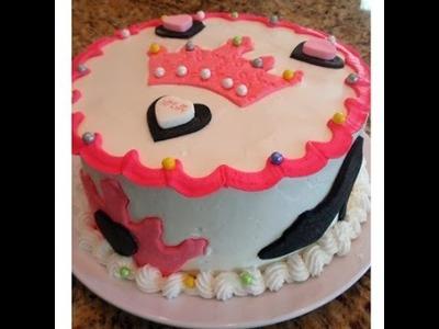 Decorating a Princess Party Cake