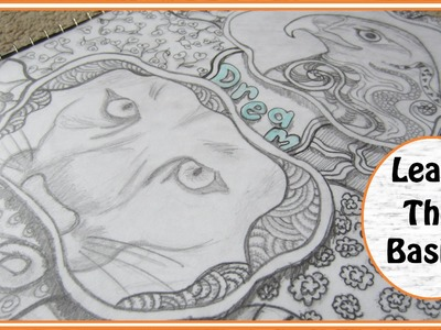 DIY Easy Zentangle Art Project ~ A Way To Relax