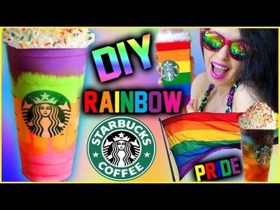 DIY Rainbow Starbucks Inspired Drinks! | Gay Pride Inspired!