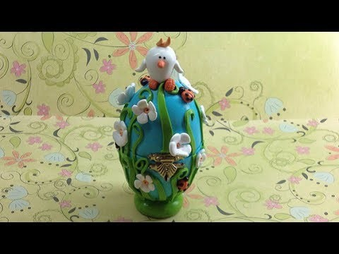 Fimo.polymer clay Easter egg box - Tutorial