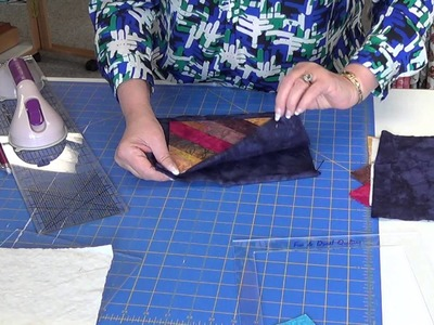 Fun & Done a quilt as you go technique.