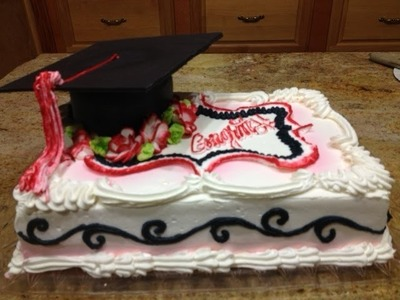 Graduation Cake- Part 2- Cake Decorating- How to