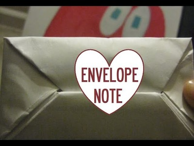 HOW TO: Fold a note into an envelope