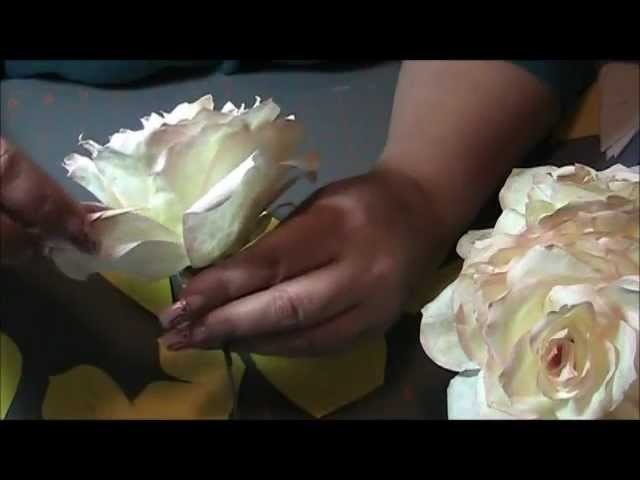 How to make a coffee filter rose step by step.
