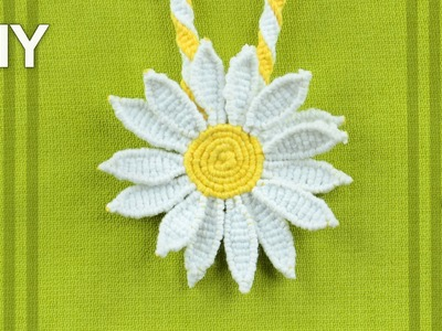 How to Make a Macrame Daisy Flower - Tutorial