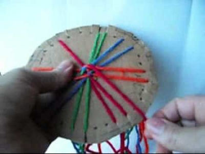 How To Make a Molty Color Lines Friendship Bracelet-2