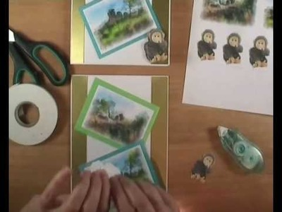 How to make a pop-up monkey greetings card tutorial