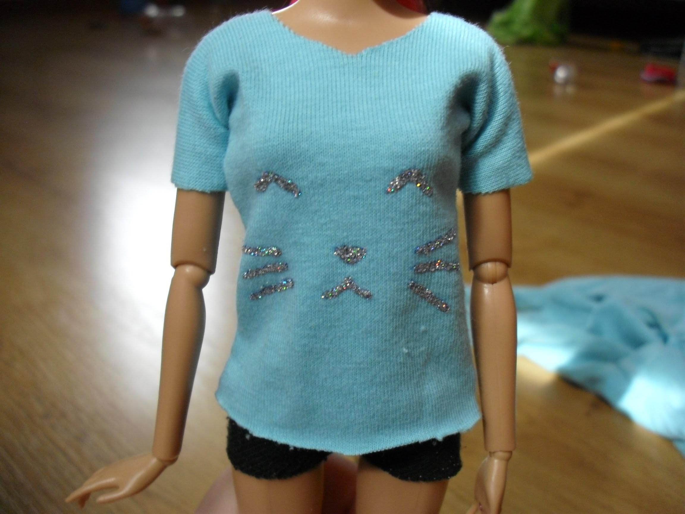 Как сделать футболку кукле