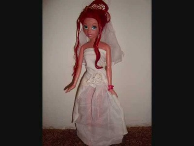 How to make doll wedding dress