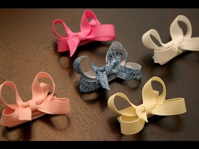 How to make infant.baby hair bows that stay in the hair (velcro bow tutorial)