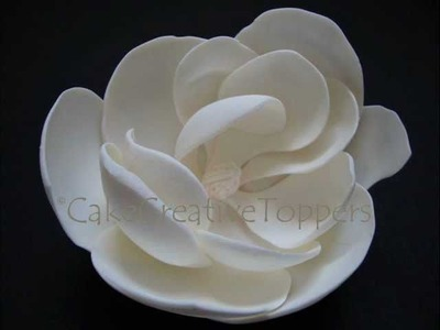 How to make Magnolia Flower? Easy without cutter.