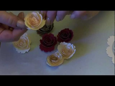 How to make spellbinder 3 dimensional blossoms
