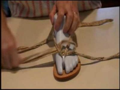 How to tie Tia's 3 strap sandal. Tiastyle.com