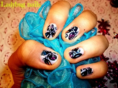 Ladybug nail art tutorial - inspired by robinmosesnailart