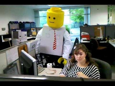 LEGO Halloween Costume: Homemade LEGO Man