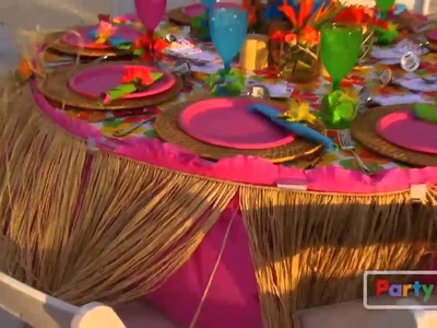 Luau Rehearsal Dinner Tips from Party City
