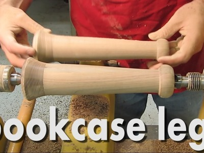 Making wood turned bookcase legs