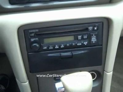 Mazda 626 Car Radio Removal and Repair