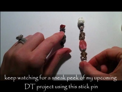 Mini Rose Stick Pin ~ Pro 31 Designs ~ DT Project Episode 3