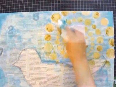 Mixed Media Art Canvas Tutorial - Allow Yourself To Be Free