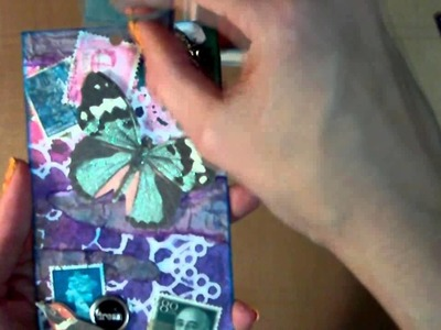 Mixed Media Art Tag - Open Your Mind