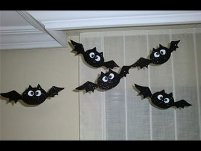 Murcielagos decorativos para Halloween - Decorations for Halloween Bats