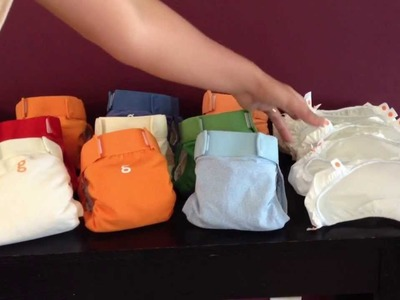 Newborn cloth diaper stash; gDiaper prices: new and used and making my own inserts
