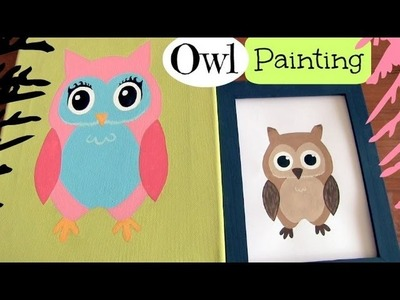 Owl Doodle Painting - How To - Home Decor