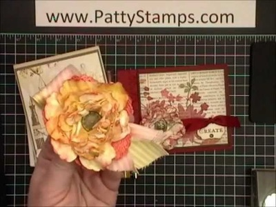 Paper Flowers with Stampin Up Blossom Punch