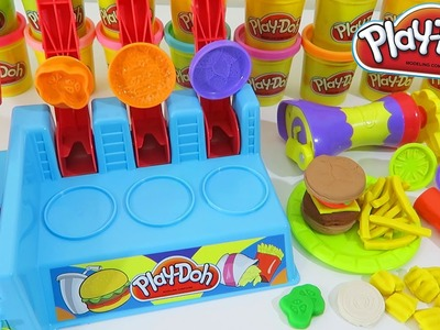 Play Doh Burger Builder Playset Make Your Own Play Dough Hamburgers and Fries!