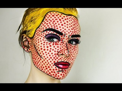 Pop Art. Comic Book Makeup Tutorial | Emma Pickles