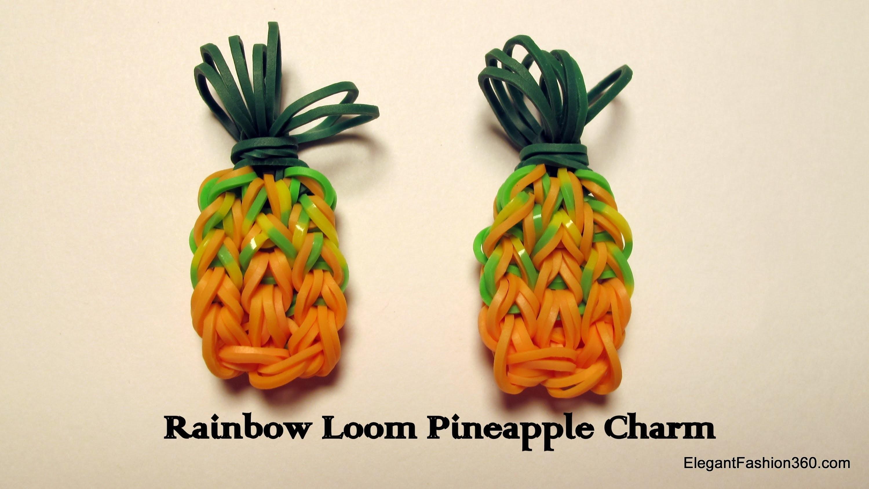Rainbow Loom Pineapple Charm - How to