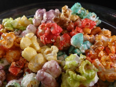 Rainbow Popcorn (fruit flavoured candied popcorn) - Bibble! with yoyomax12