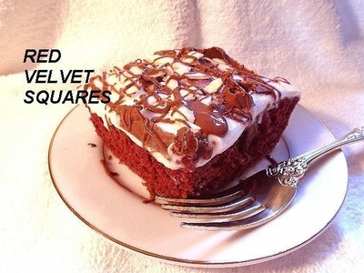 RED VELVET SQUARES recipe, vegan desserts, fancy sweets,