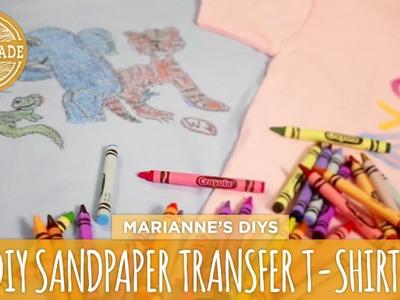 Sandpaper Transfer T-shirts - HGTV Handmade