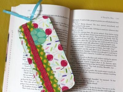 Scrappy Fabric Bookmark- Scan N Cut Tutorial