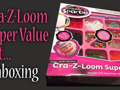 Shimmer 'n Sparkle Cra-Z -Loom Super Value Set Unboxing