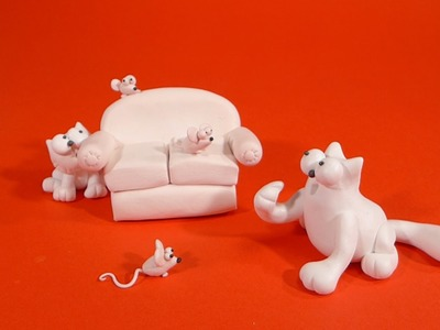 SIMON'S CAT - polymer clay tutorial by LET'S CLAY.