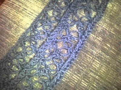 Solomon's knot stitch scarf.shawl!