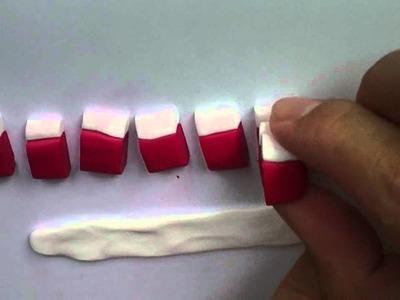 Strawberry Cane: Polymer Clay (basic method)