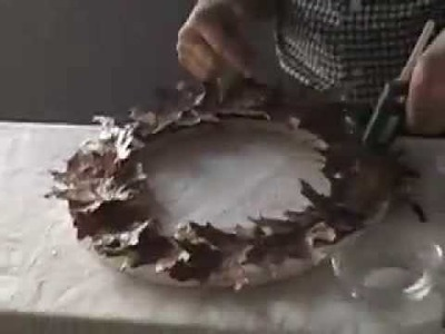 THE BASICS by Paul Byron Downs - How To Make an Oak Leaf Wreath