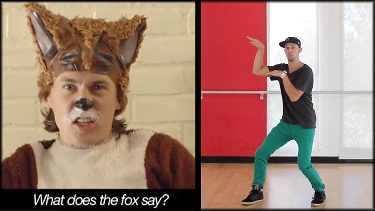 THE FOX - Ylvis Dance TUTORIAL | What Does The Fox Say (MIRRORED) | Music Video Choreography