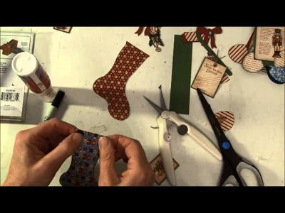 Tim Holtz Holiday Stocking stuffer card tutorial