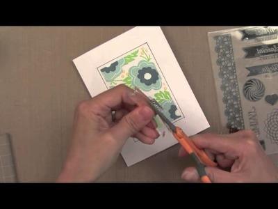 Tips & Tricks with Jennifer McGuire - Washi Tape Masking