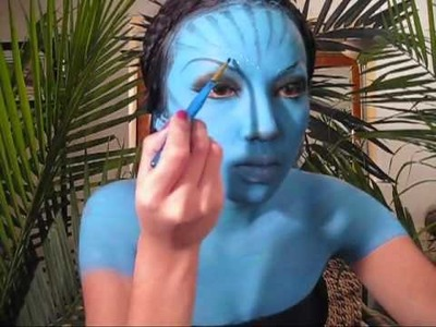Toddler Halloween Costume Idea: Avatar Make-up Tutorial