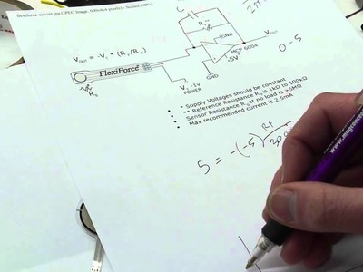 Tutorial: Op-amp circuit for force sensor signal conditioning